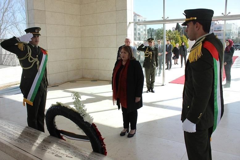 President of the Republic of Malta Visits Yasser Arafat Memorial