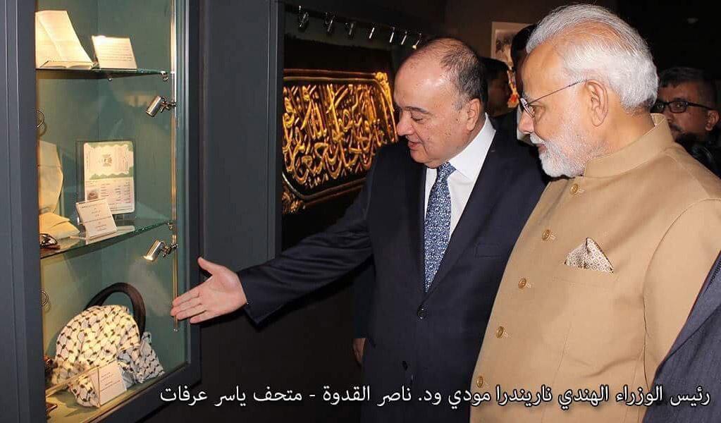 Indian Prime Minister Begins Visit to Palestine at the Yasser Arafat Memorial