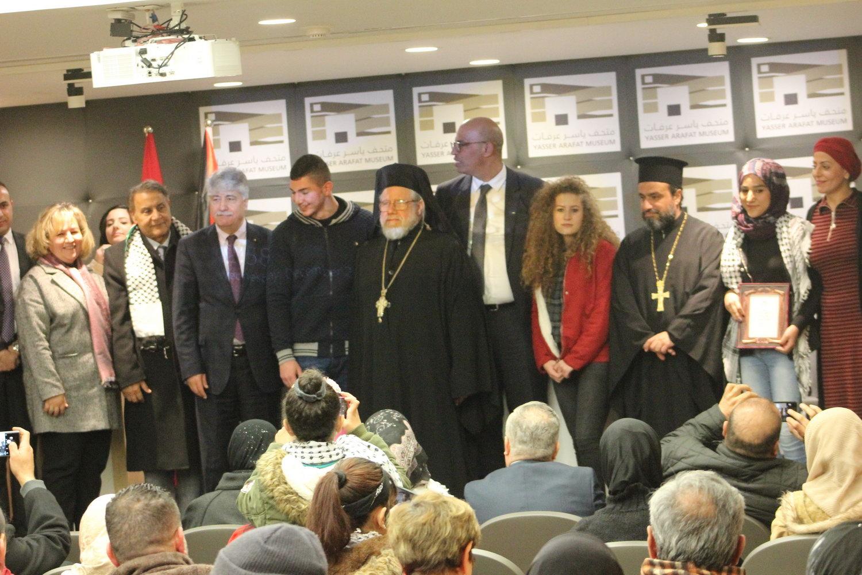 جمعية الأخوة الفلسطينية التونسية تكرم أصغر أسرى محررين في متحف ياسر عرفات