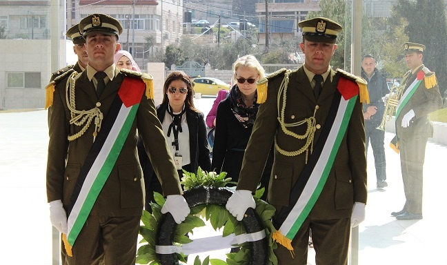 A Senior Official at the Ministry of Foreign Affairs of Estonia Visits Yasser Arafat Memorial