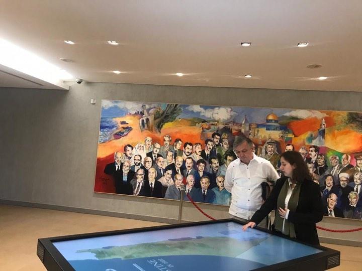 Ambassador of the Republic of Montenegro Visits Yasser Arafat Museum